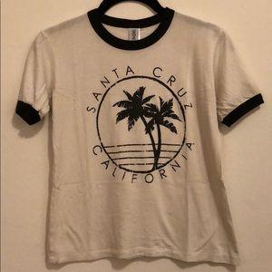Vintage Santa Cruz California ringer surf shirt S